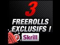 Turbo Poker organise 3 Freerolls à 250 Euro avec Skrill