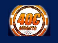 Barrière Poker : 40 Euro offerts sans dépôt jusqu'à Lundi