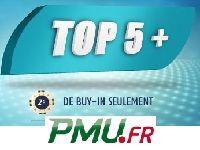 PMU Poker invente le Top 5+ en s'inspirant du Quinté +