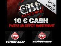 Turbo Poker : encaissez 10 Euro en actionnant la Cash Machine