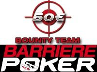Barrière Poker : ce soir, Tournoi Bounty Team avec Estelle Denis