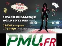 PMU Poker présente le Sit & Go Challenge Road to Vegas