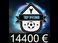 Winamax : 14 400 Euro dans la dernière cagnotte TOP Prono