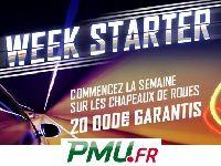 PMU Poker : ce lundi, gagnez 15 000 Euro avec Week Starter