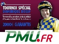 PMU Poker : Tournoi Bounty avec le Jockey Dominique Bœuf