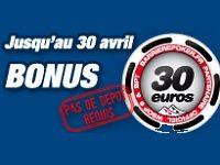 Poker : jusqu'à 30 Euro offerts sur Barrière Poker
