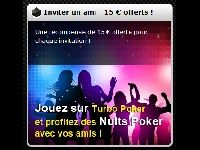 Turbo Poker : 15 Euros offerts par invitation