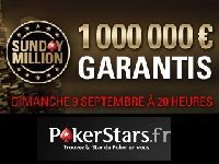 Sunday Million : 1 000 000 Euro garantis sur PokerStars