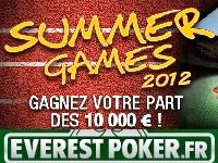 Everest Poker présente ses Summer Games 2012