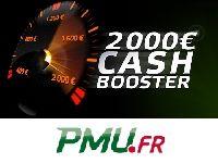 PMU Poker : Cash Booster à 2000 Euro ce Dimanche ?