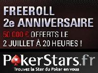 Anniversaire PokerStars : 50 000 Euro de cadeaux ce soir ?