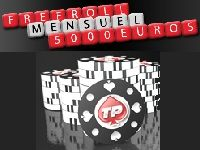 Tournois Freerolls : 5000 Euro mensuels sur Turbo Poker