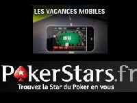 PokerStars : 10 000 Euro pour Les Vacances Mobiles