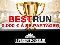 Everest Poker : partagez-vous 5000 Euro avec Best Run