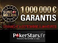 PokerStars : 1 Million d'Euro à gagner ce Dimanche