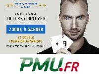 PMU Poker : gagnez 2000 Euro contre Thierry Omeyer
