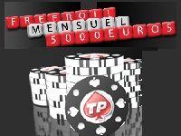 Turbo Poker : 185 Tournois Freerolls et 5000 Euro par mois