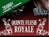 Everest Poker : Quinte Flush Royale, 20 000 Euro de Freerolls