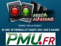 PMU Poker : 30 000 Euro de Freerolls après Arrêt au Stand