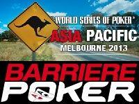 Barrière Poker : direction l'Australie pour les WSOP Asia Pacific