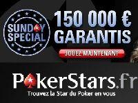 PokerStars : 150 000 garantis pour le Sunday Spécial