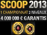 PokerStars : 4 millions d'Euro garantis pour le SCOOP 2013