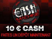 Turbo Poker vous offre 10 Euro Cash jusqu'à Vendredi