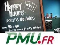 PMU Poker relance les Happy Hours en Octobre 2013