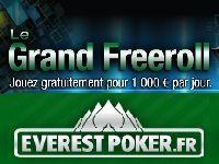 Everest Poker : 30 000 Euro mensuels pour Le Grand Freeroll