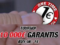 Barrière Poker : 1 Euro investi, 10 000 garantis avec One Time