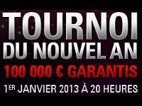 PokerStars : 100 000 Euro pour le Tournoi du Nouvel An