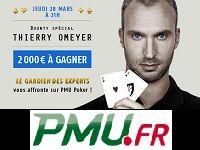 PMU Poker : 2000 Euro à gagner pour le Bounty Thierry Omeyer