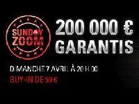 PokerStars : 200 000 Euro garantis pour le Tournoi Sunday Zoom