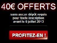 Barrière Poker prolonge ses 40 Euro offerts jusqu'au 9 Juillet