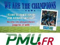 PMU Poker : Freerolls contre l'Equipe de France Espoirs