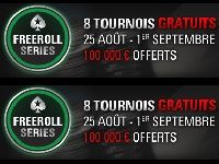 PokerStars : 100 000 Euro offerts pour les Freeroll Séries