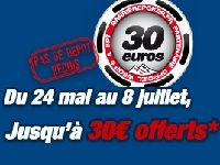 Barrière Poker : 30 Euro offerts jusqu'au 8 Juillet 2012
