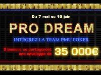 Poker : avec Pro Dream, intégrez la Team PMU Poker
