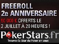 Poker : 50 000 Euro pour l'anniversaire de PokerStars