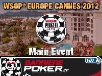 Barrière Poker vous convie à Cannes pour les WSOP Europe 2012