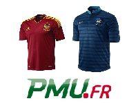 Espagne - France : 250 Euro et 5 maillots sur PMU Poker