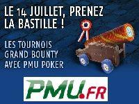 PMU Poker présente le Grand Bounty du 14 Juillet