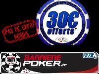 Barrière Poker : 30 Euro offerts pendant encore 10 jours