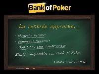 Bank Of Poker promet une rentrée en fanfare