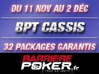 Barrière Poker : 32 Packages BPT Cassis à gagner