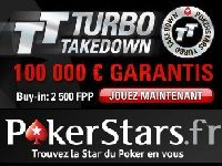 PokerStars : 100 000 Euro pour le Tournoi Turbo Takedown