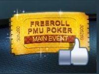 PMU Poker : Tournoi Freeroll Spécial Fan Facebook