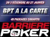 Barrière Poker offre 48 Packages BPT 2013 à la carte