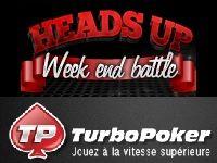 Turbo Poker présente les Heads-Up Week-End Battle