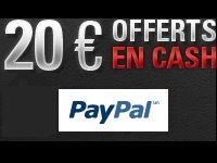 PokerStars vous offre 20 Euro en Cash grâce à Paypal